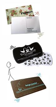 примеры дизайна визиток