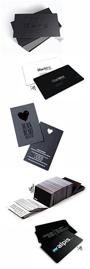 визитки черные. Черно-белые визитки с золотом в СПб