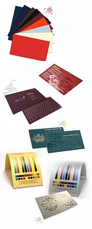 визитки на дизайнерской бумаге