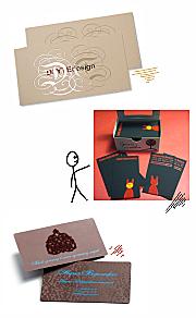 визитки шелкографией