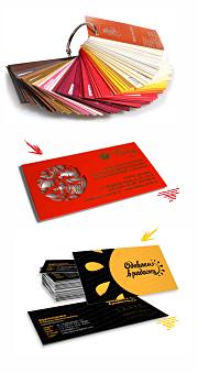 визитка в СПб Виды визитных карточек