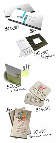 Размер визитной карточки для печати